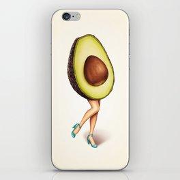 Avocado Girl iPhone Skin