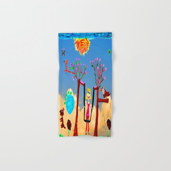 Dreaming   Playground   Up to the Clouds Hand & Bath Towel
