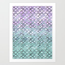MERMAID Glitter Scales Dream #2 #shiny #decor #art #society6 Art Print