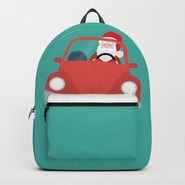 Santa Claus coming to you on his Car Sleigh Backpack