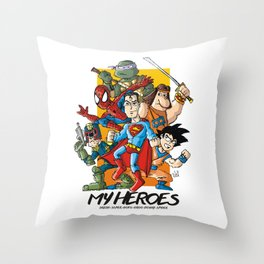 My Heroes Throw Pillow