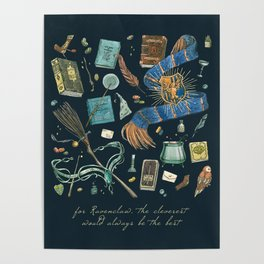 Ravenclaw House Poster