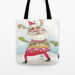 Steampunk Santa Tote Bag