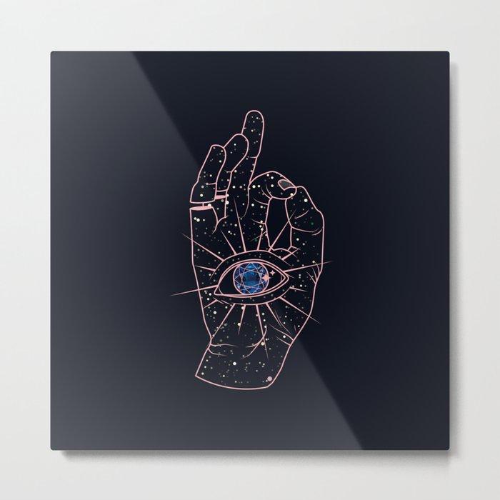 Magic Hand Metal Print
