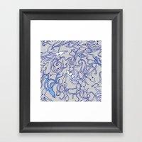 Squids of the inky ocean Framed Art Print