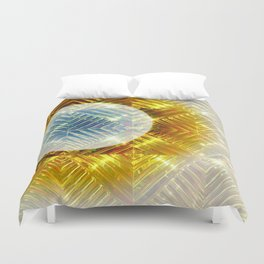 Luminescent Gold Duvet Cover