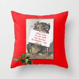 Best Christmas Wishes from the Beast Throw Pillow