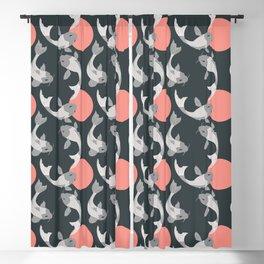 Koi fish pattern 001 Blackout Curtain
