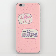 Conceited Valentine iPhone & iPod Skin