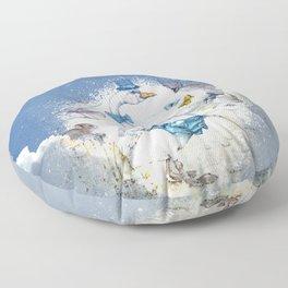 Well-To-Do Gentleman Goose Floor Pillow