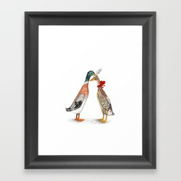 Runner Ducks Framed Art Print