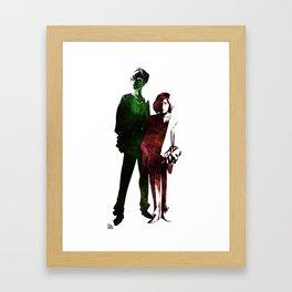 Janeway and Seven Framed Art Print