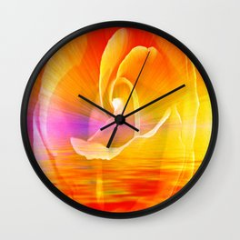 Sunset Rose Abstract Wall Clock