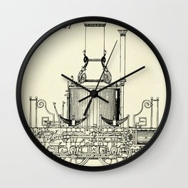Locomotive Steam Engine-1837 Wall Clock