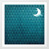 night sky Art Prints featuring Night Sky by littleclyde