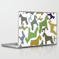 schnauzer Laptop & iPad Skins featuring schnauzer pattern by monicamarcov