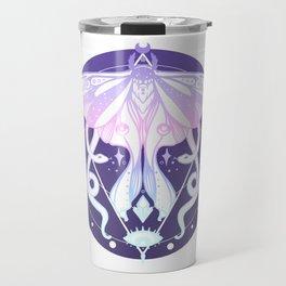 Luna Moth, Snakes, Third Eye, Stars And Witchy Aesthetic Pastel Goth Art Travel Mug