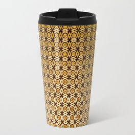 Gold and wood carving pattern Travel Mug