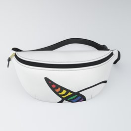 BIG RAINBOW BUDDY NARWHAL Fanny Pack