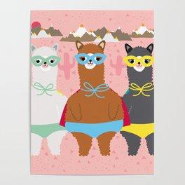 Alpaca Superheroes I Poster