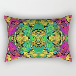 Neon Scribbler Rectangular Pillow