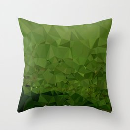 Chlorophyll Green Abstract Low Polygon Background Throw Pillow