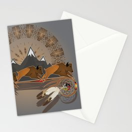 Native American Indian Buffalo Nation Stationery Cards