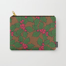 Holly Pattern Carry-All Pouch