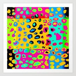 colorpop leopard Art Print
