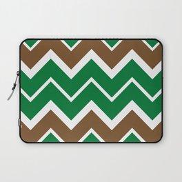 Big Chevron:  Kelly Green + Chocolate Brown Laptop Sleeve
