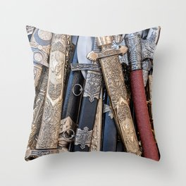 Cold steel arms Throw Pillow
