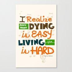 IF I STAY: I Realise Canvas Print