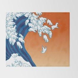 Llama Waves Throw Blanket