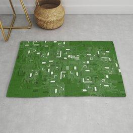 Green Motherboard Geek Decor Rug