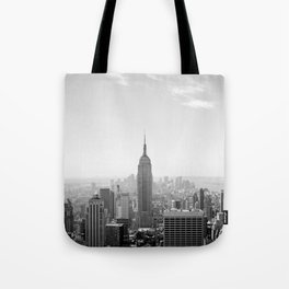 Manhattan - Empire State Building Panorama | B/W Tote Bag