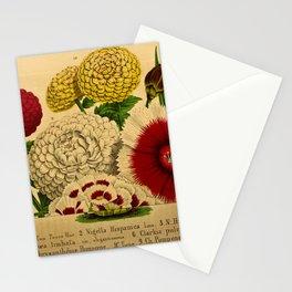 Flower tropaeolum majus nigella hispanica dianthus verschaffelti ipomaea limbata clarkia pulchella dianthus heddewegii chrysantheumum pompone 27 Stationery Cards