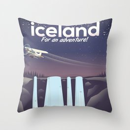 """Iceland """" For an adventure!' Throw Pillow"""