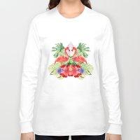 flamingo Long Sleeve T-shirts featuring Flamingo by Kangarui by Rui Stalph