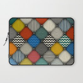 buttoned patches Laptop Sleeve