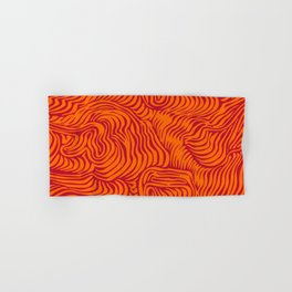 orange red flow Hand & Bath Towel