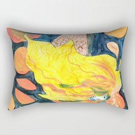 gold, Yellow and blue mermaid Rectangular Pillow