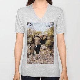 Staggered Elephant Unisex V-Neck