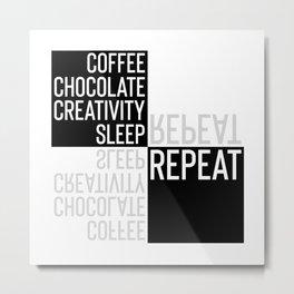 Typographic Design CREATIVE LIFESTYLE Metal Print