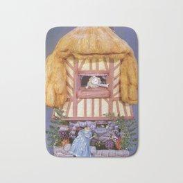 White rabbits house Bath Mat