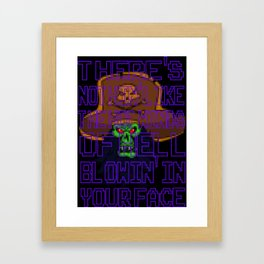 The Hot Winds Of Hell Framed Art Print