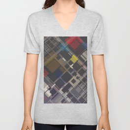 Abstract Composition 70 Unisex V-Neck