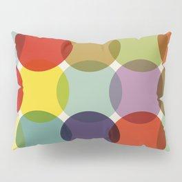 Retro Colored Dots Pillow Sham