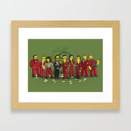 Casa De Papel Framed Art Print