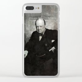 Sir Winston Churchill by MB Clear iPhone Case