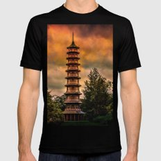 Kew Pagoda Mens Fitted Tee LARGE Black